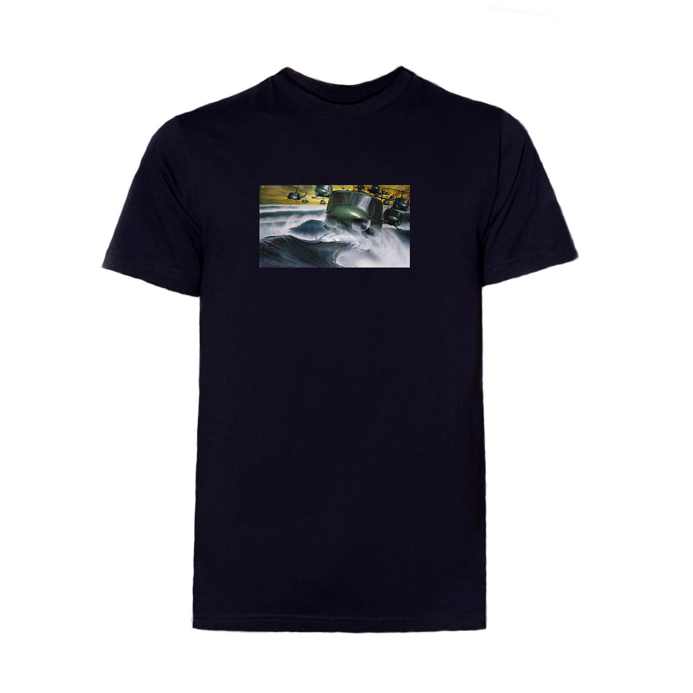 футболка вертолет черная